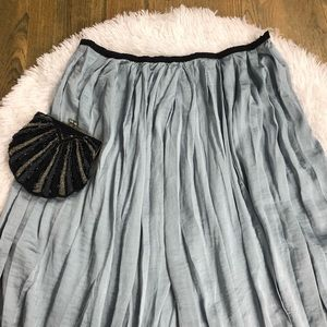 Philosophy Satin Crinkle Midi Skirt. Size 10